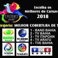 TROFÉU CASTRO ALVES 2018 – MELHOR COBERTURA DE TV – votação ENCERRADA.