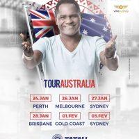 O cantor Tatau faz turnê inédita na Austrália