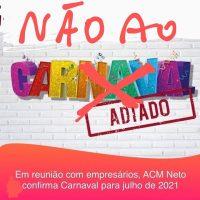 NÃO AO CARNAVAL 2021